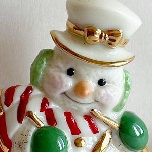 Lenox China Holiday Christmas Snowman Band Drummer